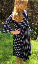 Tween Stripes Midi Dress
