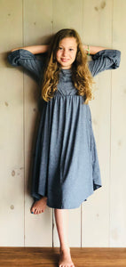 Denim Bell Sleeve