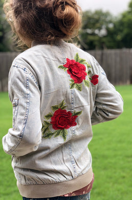 Roses and Denim Jacket