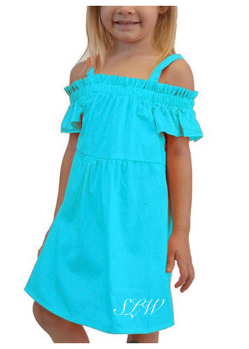 Turquoise Toddler Dress