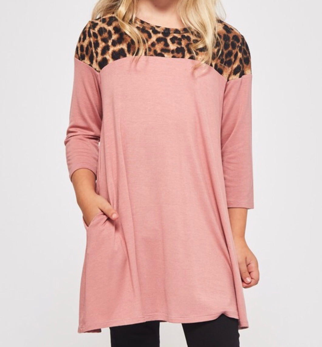 Leopard and Rose Shift Dress