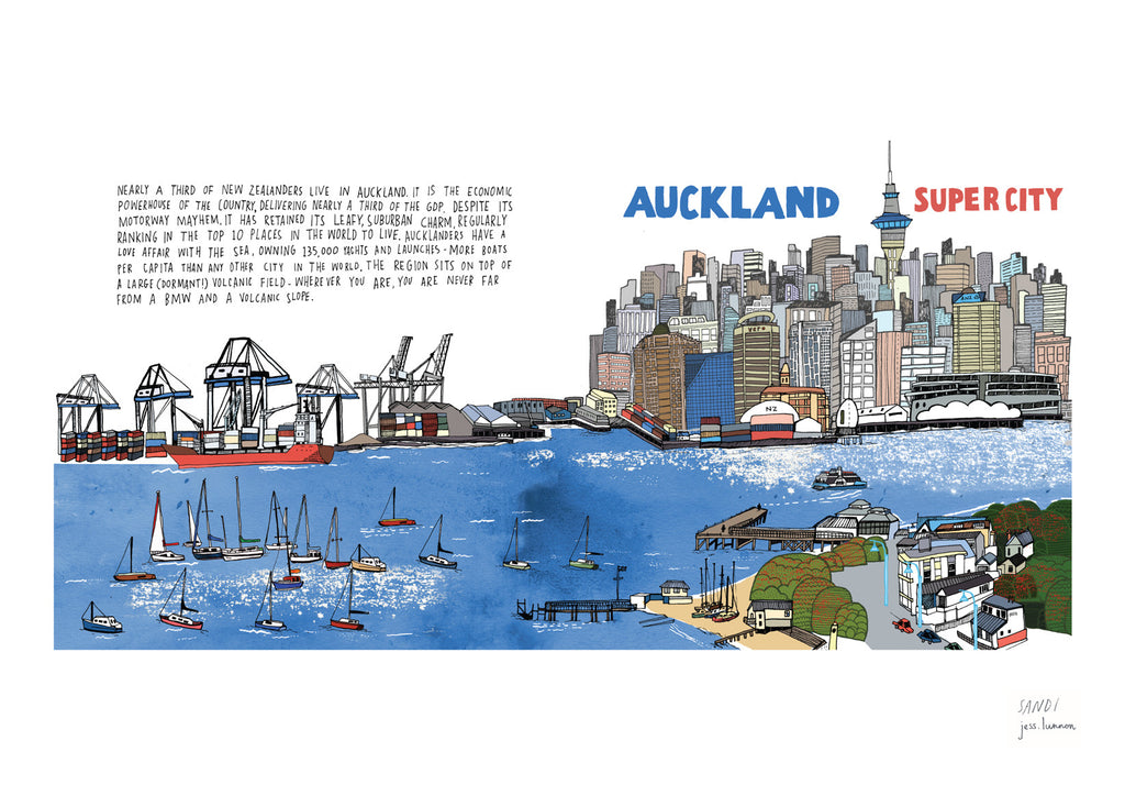 Auckland Super City Skyline