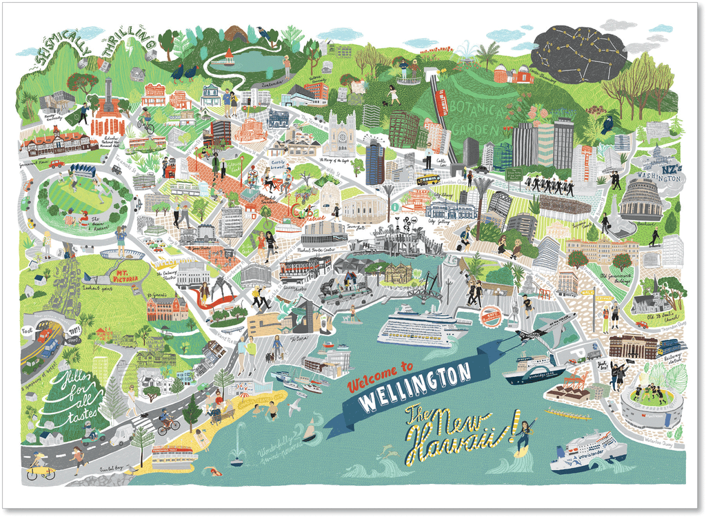 Welcome to Wellington – The New Hawaii [A3 size]
