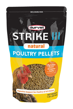 Strike III (Strike 3) Natural Poultry Pellets