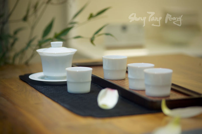 Sweet White Glaze Tea Set/ Five Pieces