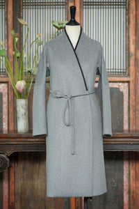 Women's Cashmere Long Coat w/ Loquat Button