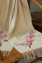 Load image into Gallery viewer, Cashmere Scarf w/ Double Side Hand Embroidery