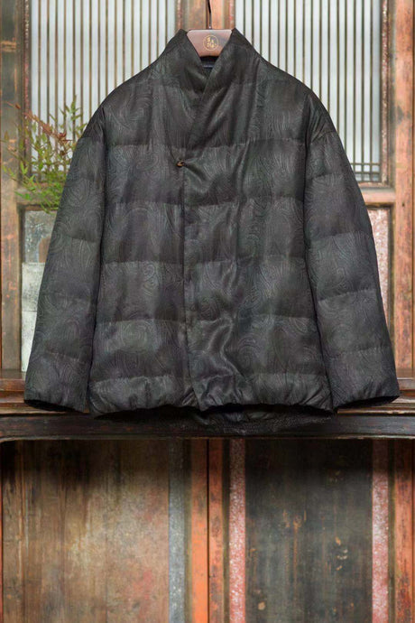 Men's Gamberied Silk Down Coat