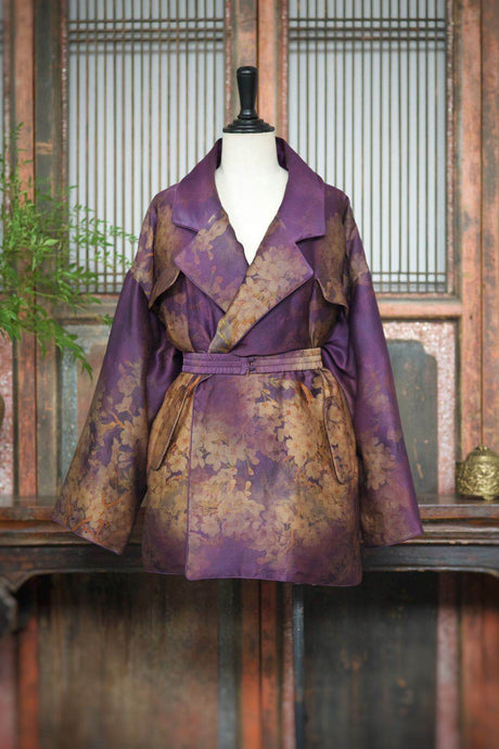 Women's Gamberied Silk Down Coat