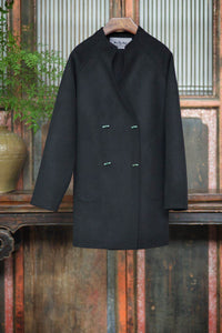 Women's Cashmere Coat with Jade Buttons