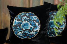 Load image into Gallery viewer, Silk Velvet Cushion Cover Peony&Butterfly