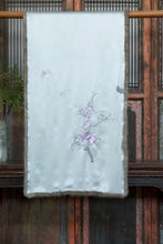 Load image into Gallery viewer, Silk Scarf w/ Hand Embroidery & Mink Fur