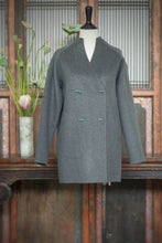 Load image into Gallery viewer, Women's Cashmere Coat with Jade Buttons
