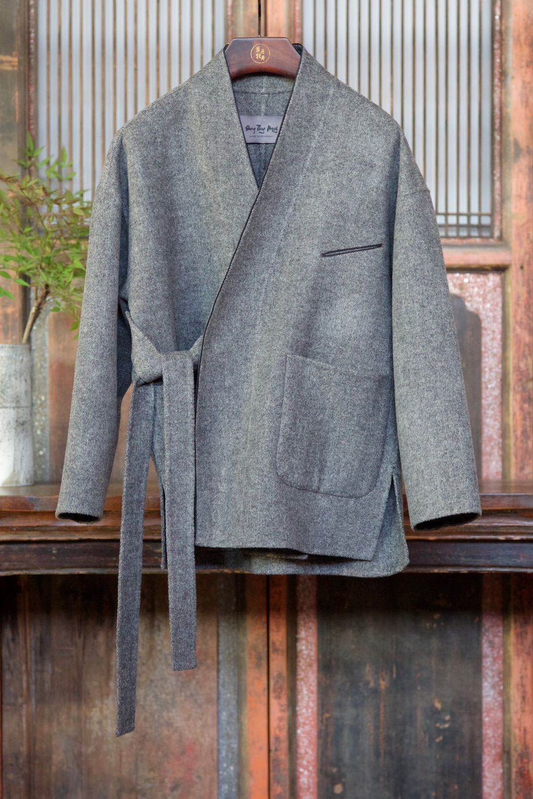 Men's Cashmere Coat w/ Removable Belts