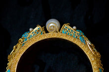 Load image into Gallery viewer, Kingfisher Filigree Dragon Bangle