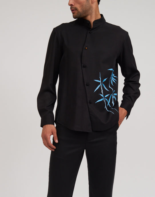 Men's Shirt with Hand Painting
