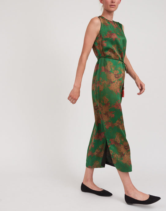 Women's Gamberied Silk Dress