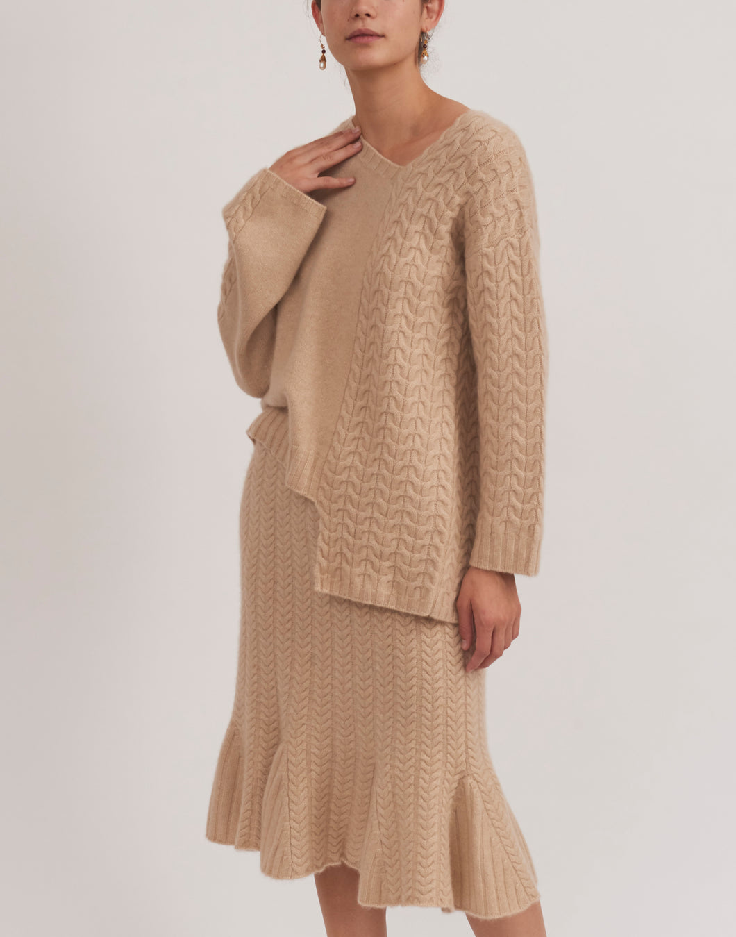 Women's Asymmetric Cashmere Sweater