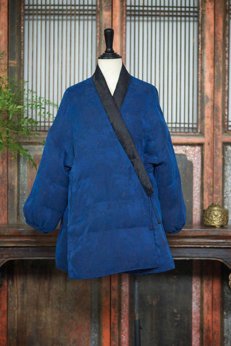 Gamberied Silk Down Coat