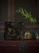Load image into Gallery viewer, Silk Velvet Bag w/ Bamboo Handle