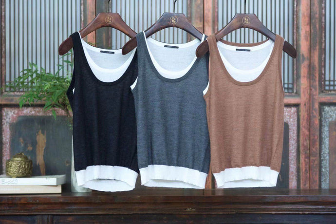 Women's Knitting Cashmere Vest