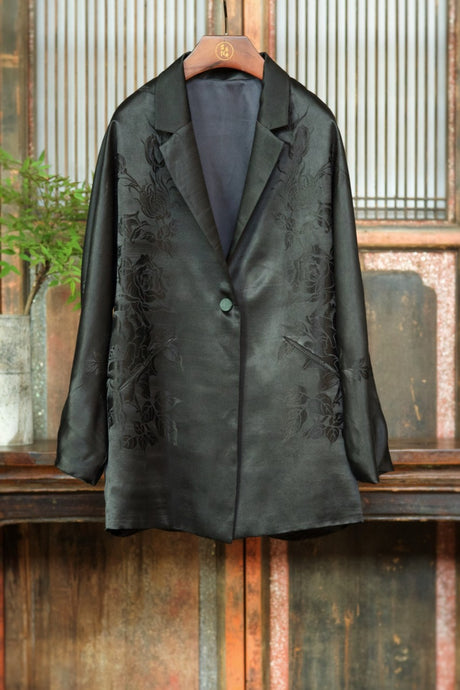 Women's Silk Brocade Blazer