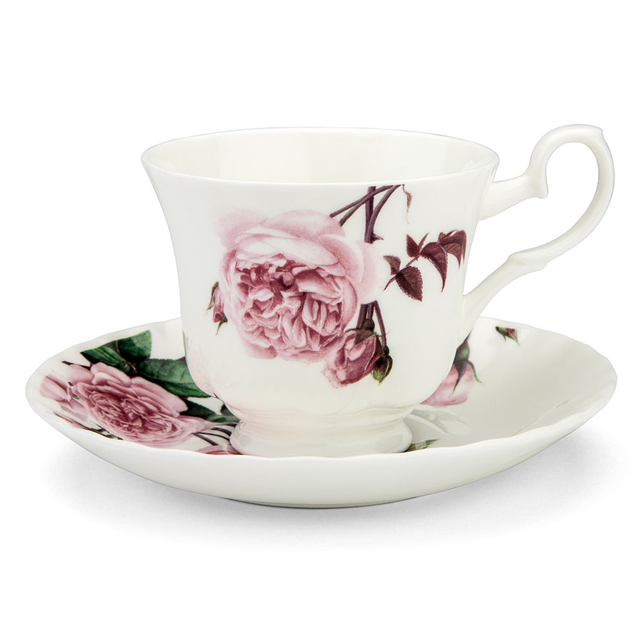 English Rose Teacup and Saucer