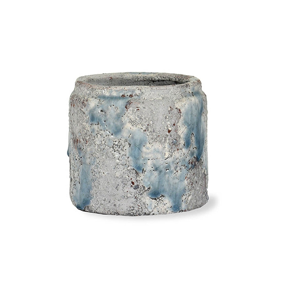 Blue Glazed Ceramic Pot