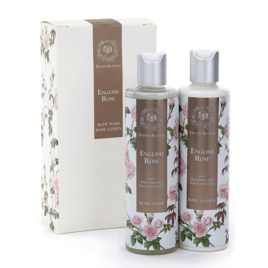 English Rose Body Wash and Lotion Gift Set