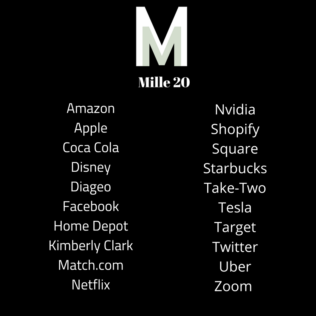 List of Stocks in the Mille 20