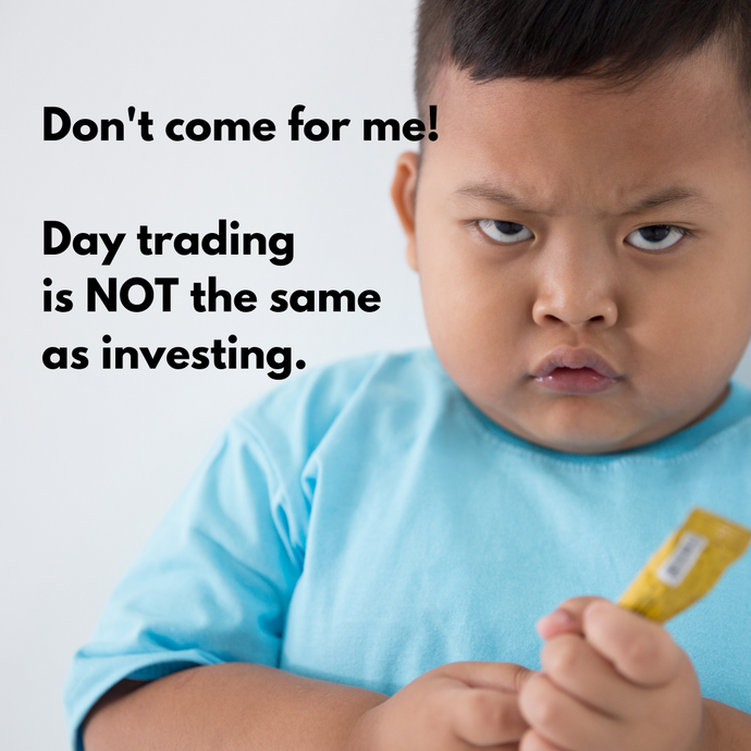 Day Trading - It's Not the Same as Investing!