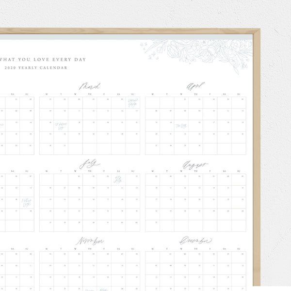 Do What You Love Every Day | 2020 Annual Calendar: Digital Download