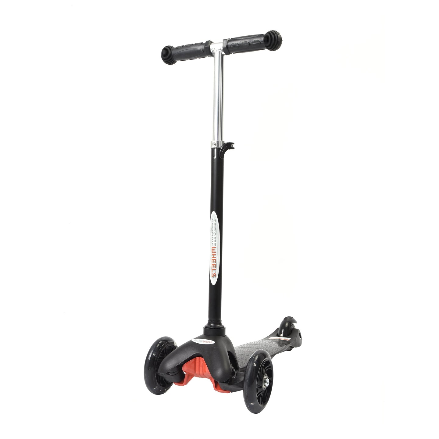 Wonder Wheels Scooter With Transparent Flashing PU Wheel - l Black