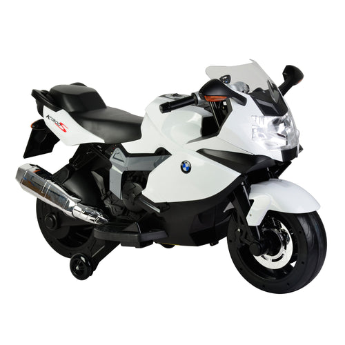 Wonder Wheels Licensed BMW Ride On Motorcycle With Light & 4 Songs - White