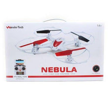 Load image into Gallery viewer, WonderTech Nebula 2.4GHz 6-Axis Gyro Quadcopter Drone with HD FPV Real Time Live Video Feed Camera, White