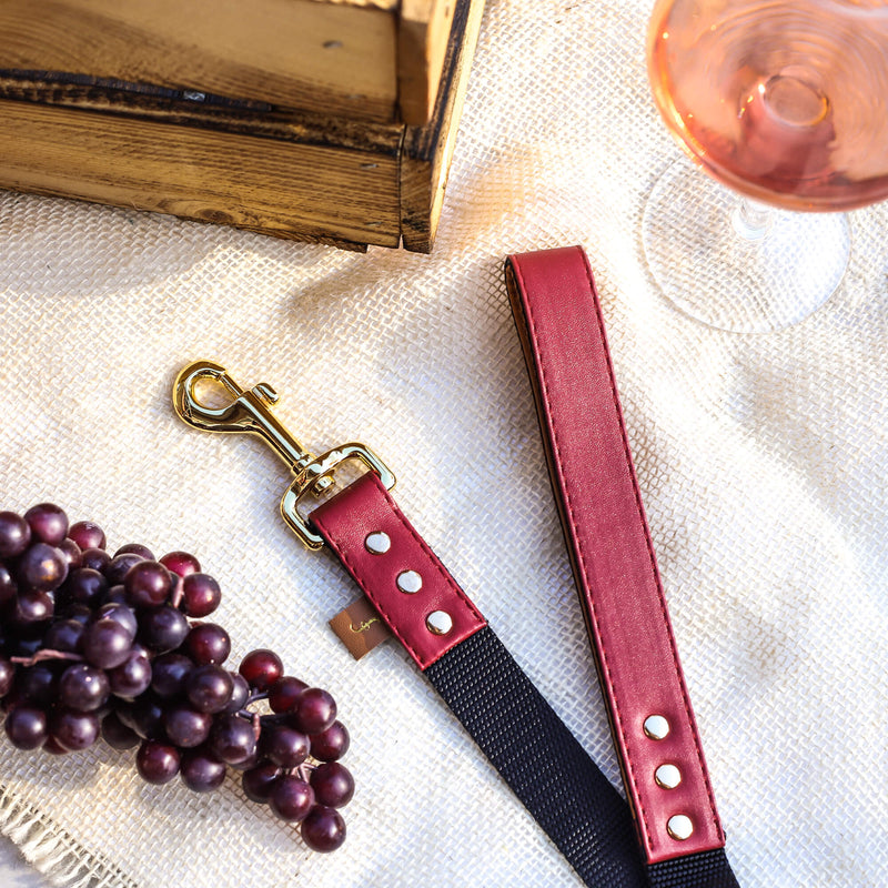 The Classic Pup: Bordeaux - Leash