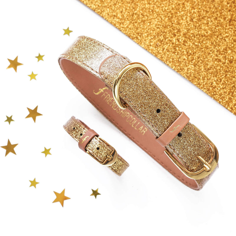 The Sparkling Pup: Glitter Gold