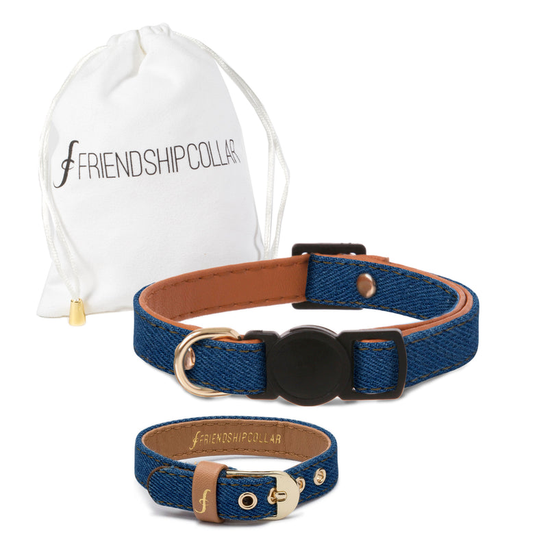 Mid Wash Denim Cat Collar