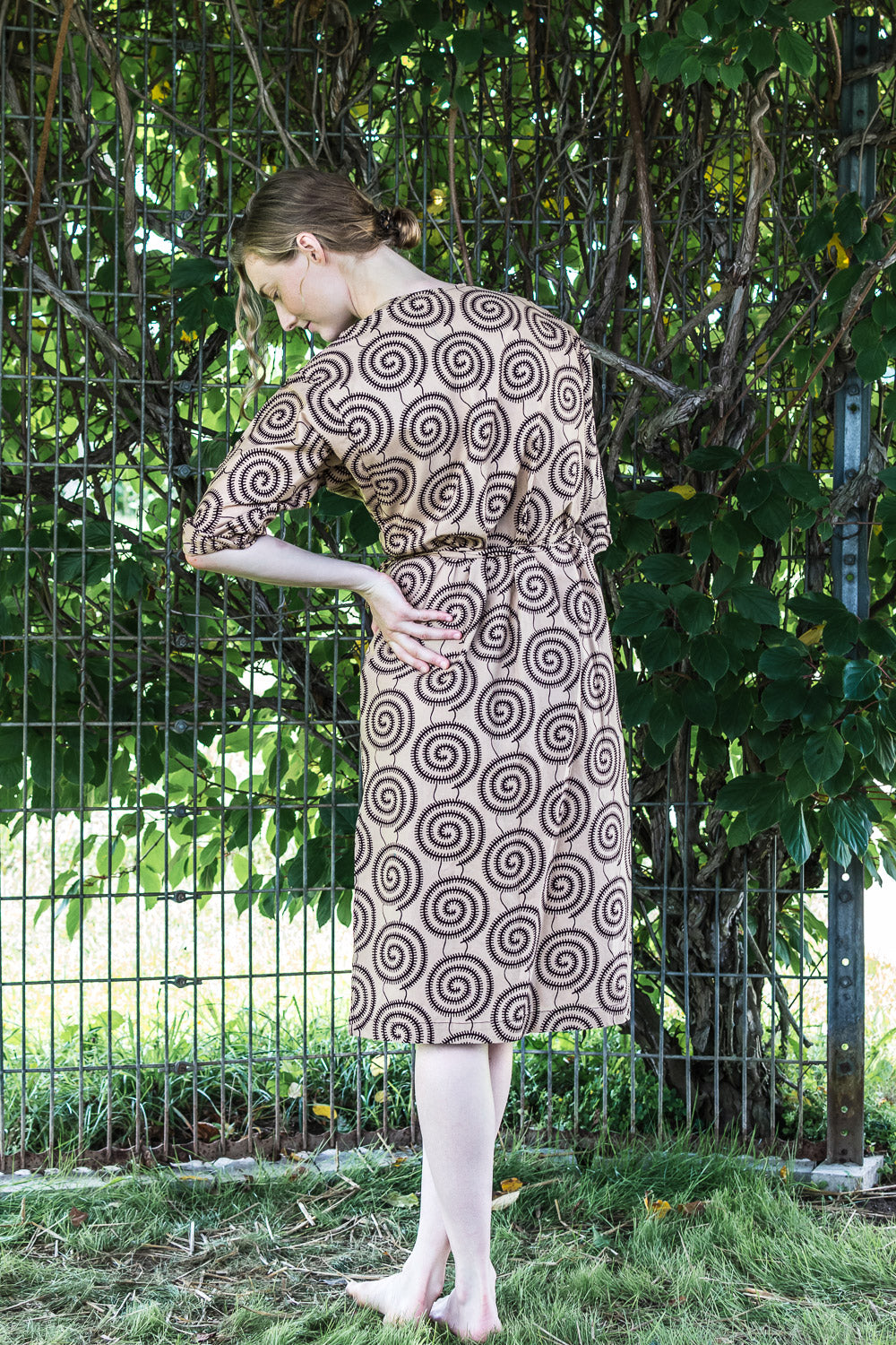 Dolman Wrap Dress • Coffee with Chocolate Pinwheels