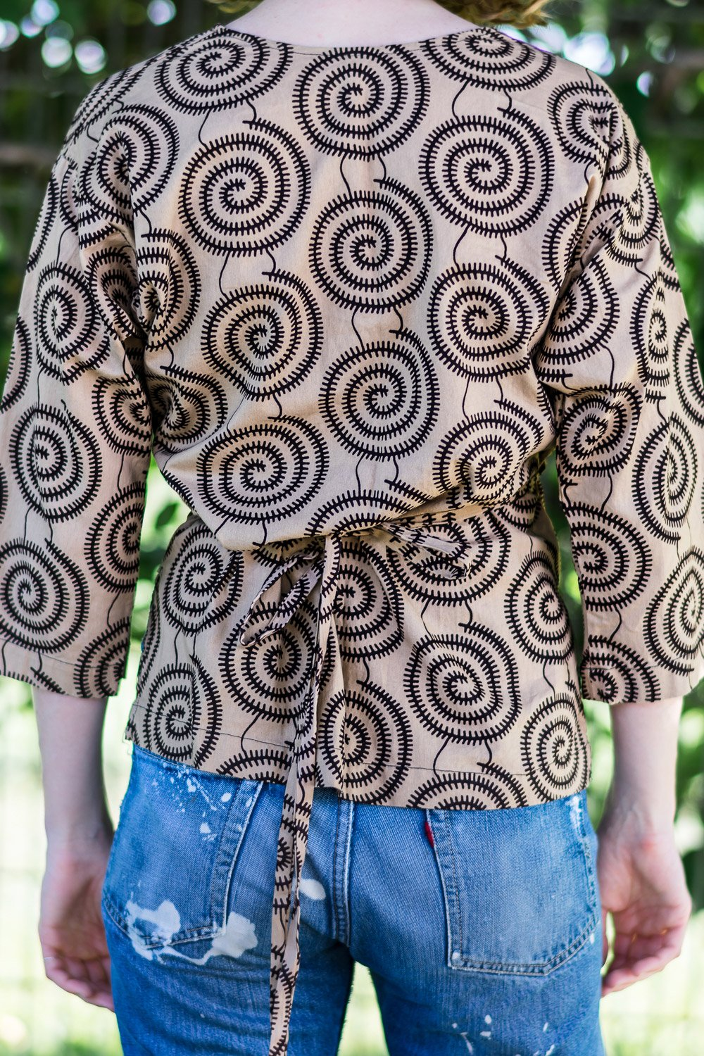 Wrap Shirt • Coffee w/ Chocolate Pinwheels
