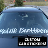 Custom Big Car Stickers 200cm Long X2 - BPWB-shop
