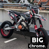 BIG BOLD. STICKER (CHROME) x2 - BPWB-shop