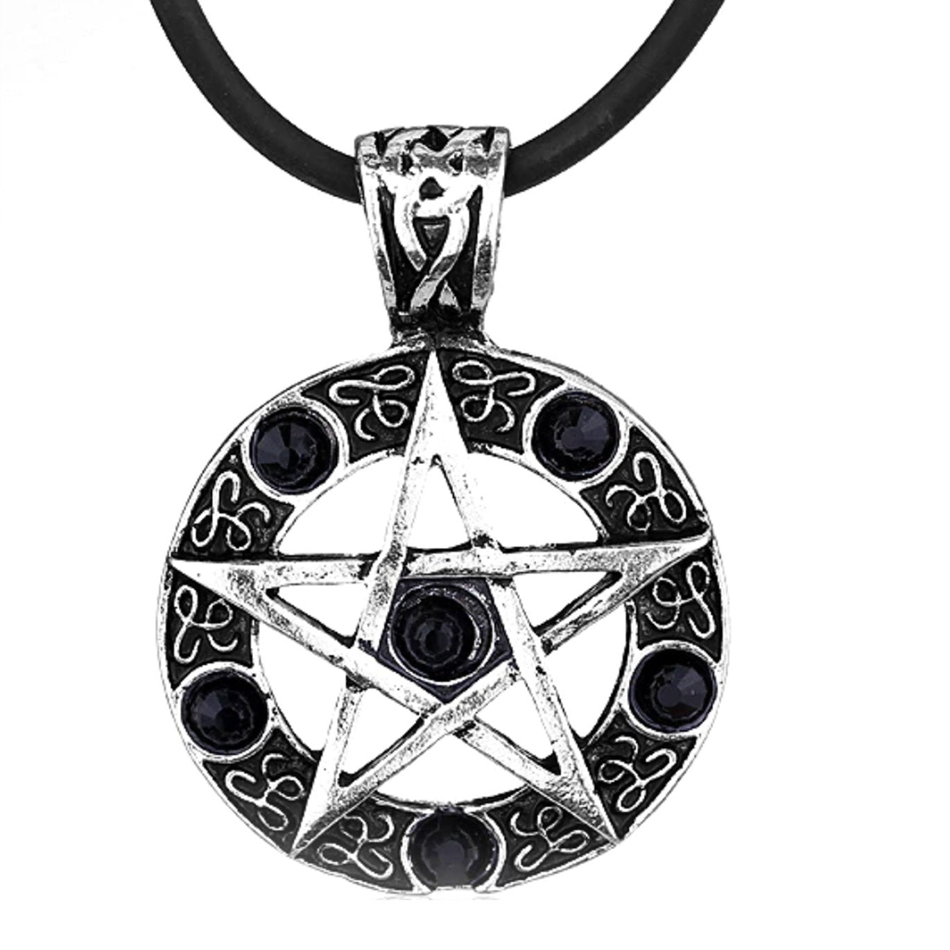 STUDDED PENTACLE NECKLACE
