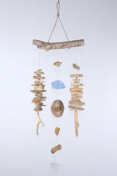 Driftwood and beach glass