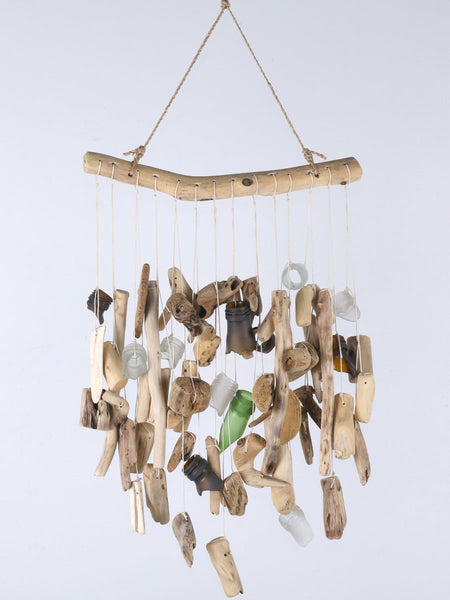 Driftwood and Bottle neck glass