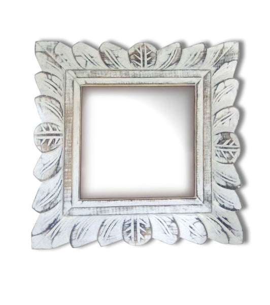 Square Wooden carved mirror