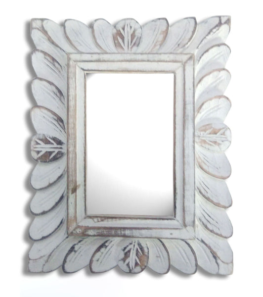 Rectangular Wooden carved mirror