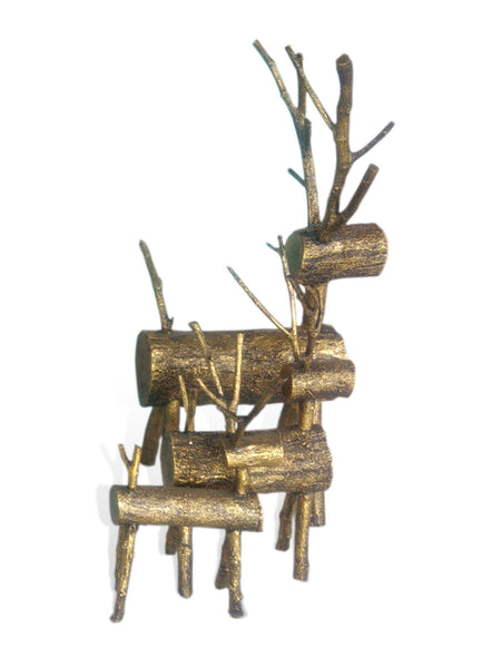 Wooden Deer set of 3