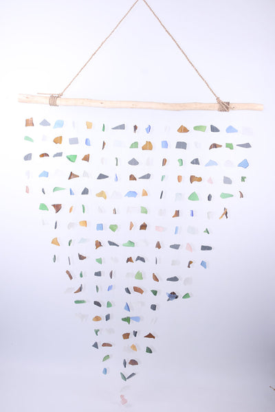 Hanging beach glass