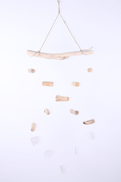 Hanging wood small glass